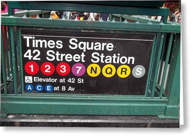 Brianna Greeting Cards - 42 Street Station NYC Greeting Card by Brianna Thompson