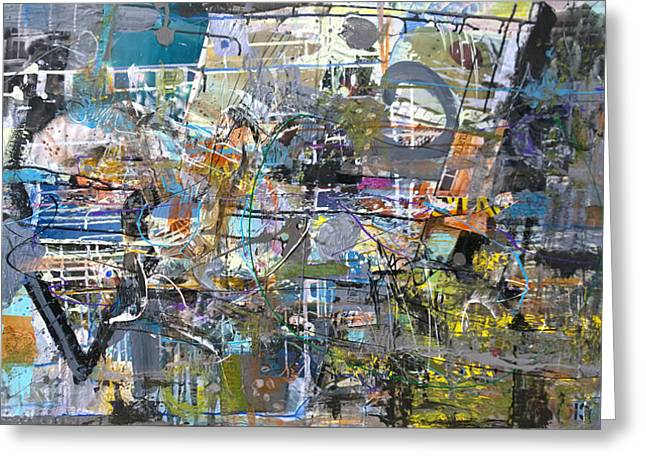 Geographic Mixed Media Greeting Cards - #42215 or The Explorer Greeting Card by Robert C Anderson