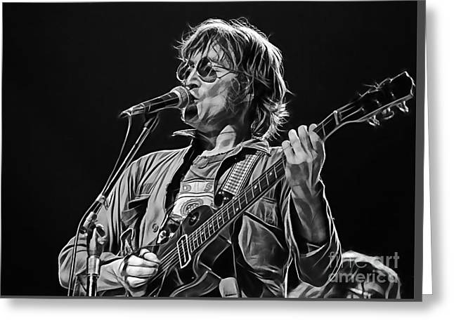 Cool Greeting Cards - John Lennon Collection Greeting Card by Marvin Blaine