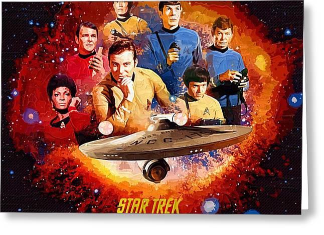 Enterprise Digital Greeting Cards - Art Star Trek Greeting Card by Victor Gladkiy