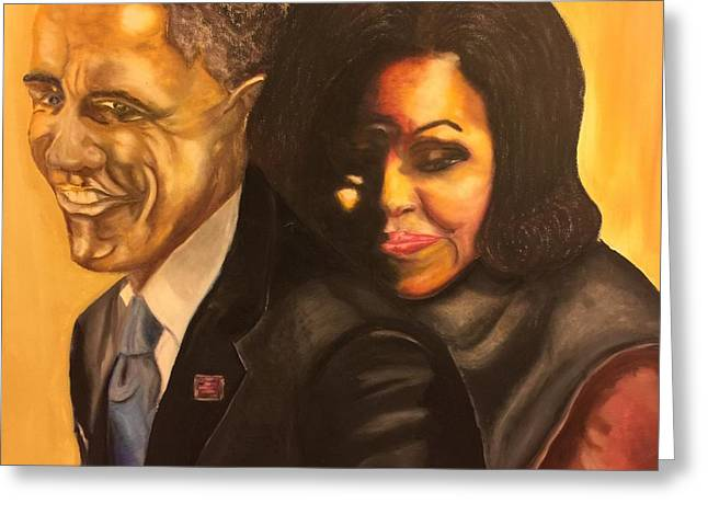 Barack Pastels Greeting Cards - 44 Greeting Card by Ebony Thompson