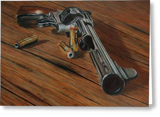 44 Magnum Greeting Cards - 44 Magnum  Greeting Card by Stacy Crane