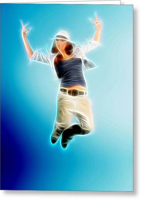 Lessons Greeting Cards - You Dance Greeting Card by Michael Vicin