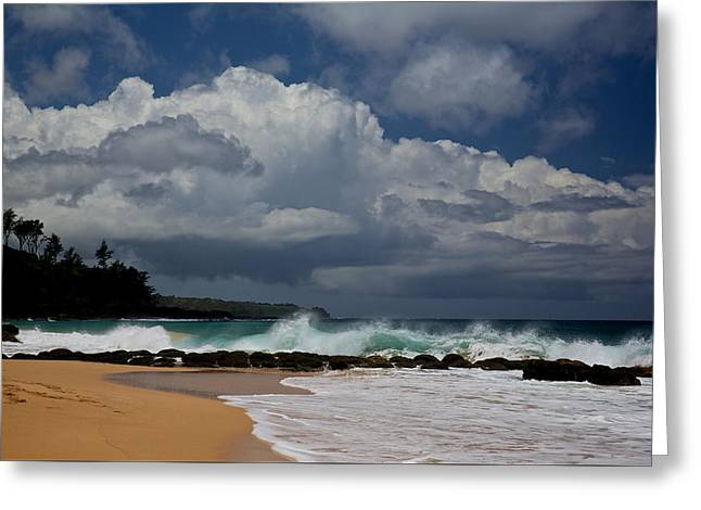 Waimea Falls Greeting Cards - Secret Beach Greeting Card by Steven Lapkin