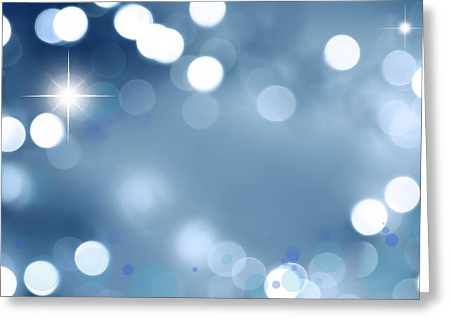 Blue Background Greeting Cards - Abstract background Greeting Card by Les Cunliffe
