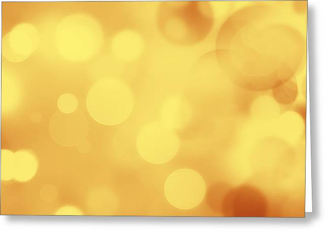 Bright Greeting Cards - Abstract background Greeting Card by Les Cunliffe