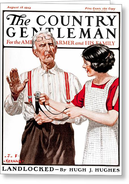 Suspenders Greeting Cards - Cover Of Country Gentleman Agricultural Greeting Card by Remsberg Inc