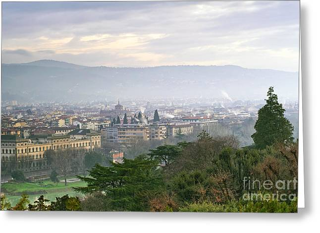 Florence Greeting Card by Andre Goncalves