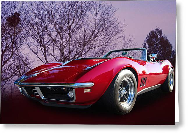 68 Chev Greeting Cards - 468 Vette Greeting Card by Bill Dutting
