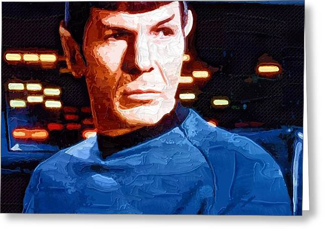 Enterprise Greeting Cards - Art Star Trek Greeting Card by Victor Gladkiy