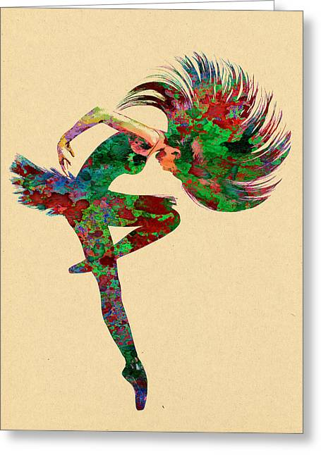 Ballet Greeting Cards - Dance Greeting Card by Elena Kosvincheva