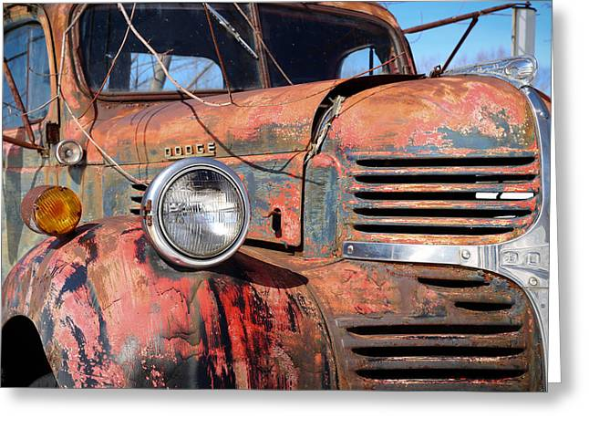 Old Maine Barns Greeting Cards - 47 Dodge Greeting Card by Jonathan Woodbury