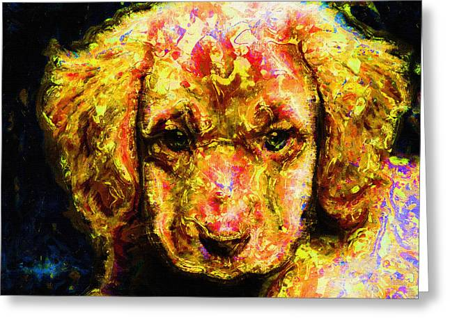 Dog Prints Greeting Cards - Dog Portrait Art Print Greeting Card by Victor Gladkiy