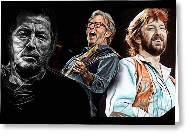 Cool Art Greeting Cards - Eric Clapton Collection Greeting Card by Marvin Blaine