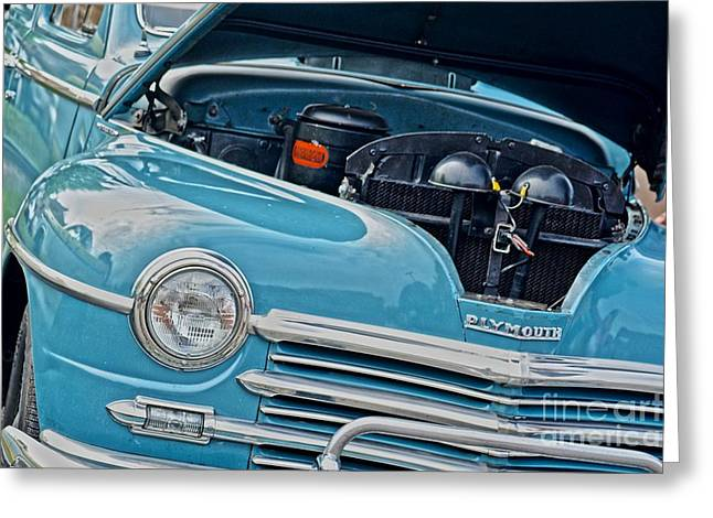 Conservative Greeting Cards - 48 Plymouth Sedan  Greeting Card by JW Hanley