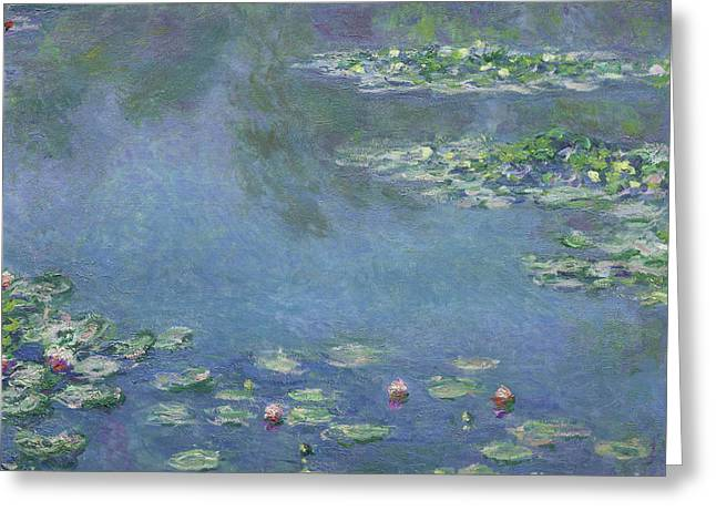 Water Lilly Greeting Cards - Water Lilies Greeting Card by Claude Monet