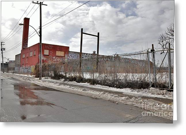 Streets Of Montreal Greeting Cards - 4814 Dunn Street Urban Exploration Greeting Card by Reb Frost