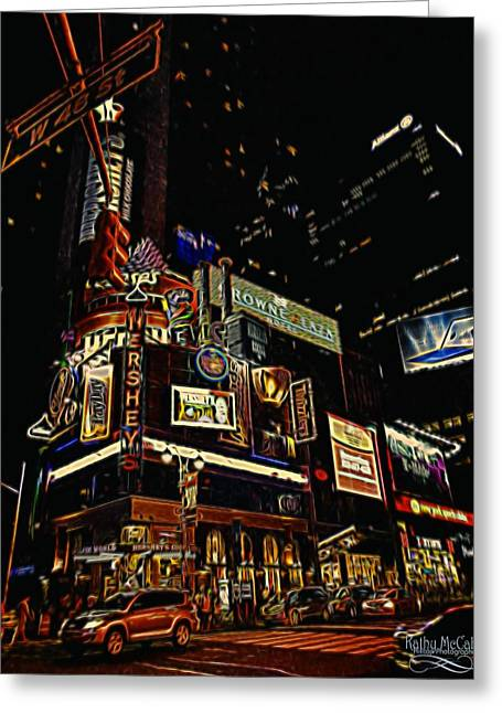 Crosswalk Greeting Cards - 48th Street Greeting Card by Kathy  McCabe