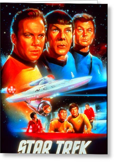 Enterprise Digital Art Greeting Cards - Art Star Trek Greeting Card by Victor Gladkiy