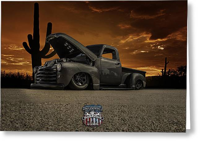 Slam Greeting Cards - 49 Chevy Pick Up Greeting Card by Craig Rusboldt