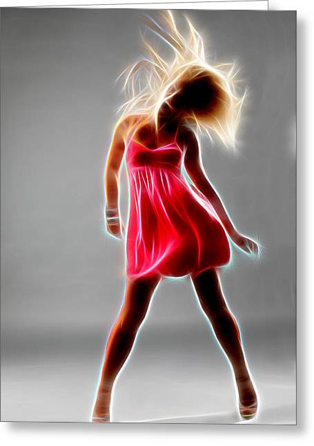 Lessons Greeting Cards - In Dance Greeting Card by Michael Vicin