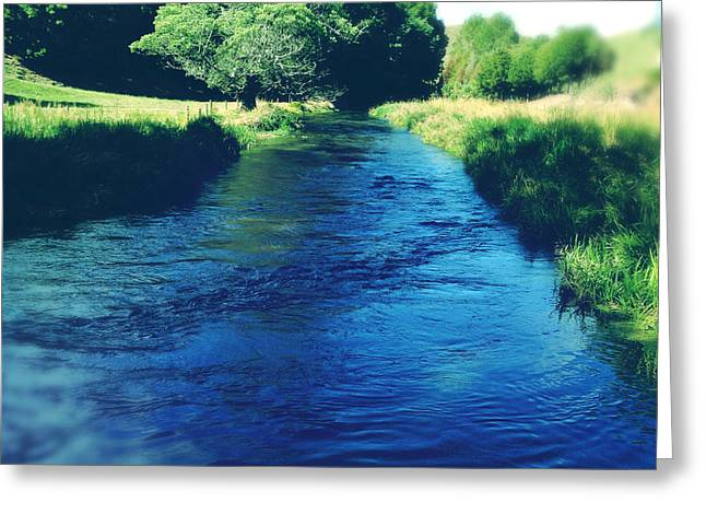 Clean Water Greeting Cards - Spring water Greeting Card by Les Cunliffe