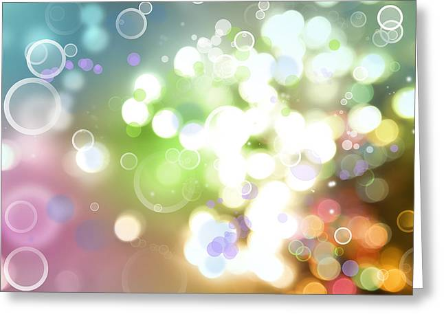 Special Greeting Cards - Abstract background Greeting Card by Les Cunliffe