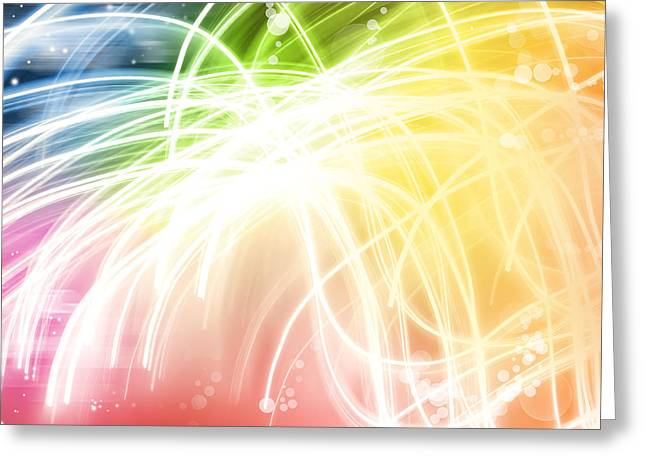 Abstract Waves Greeting Cards - Abstract background Greeting Card by Les Cunliffe