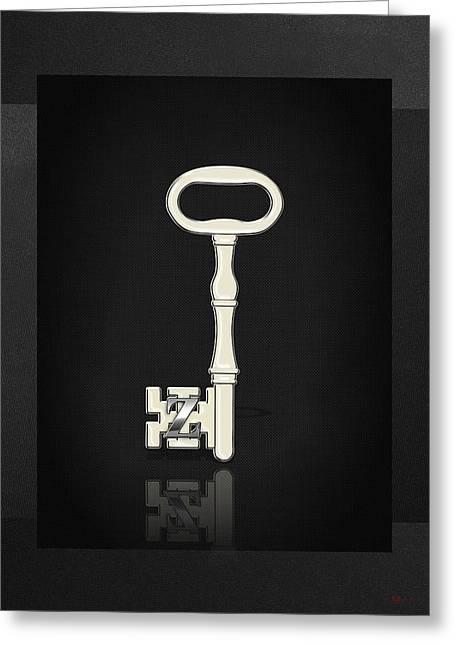 Masters Degree Greeting Cards - 4th Degree Mason - Secret Master or Master Traveler Masonic Jewel on Black Canvas Greeting Card by Serge Averbukh