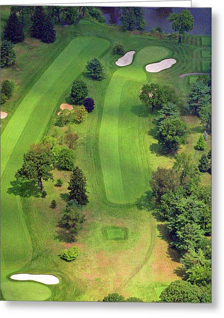 Plymouth Meeting Aerials Greeting Cards - 4th Hole Sunnybrook Golf Club 398 Stenton Avenue Plymouth Meeting PA 19462 1243 Greeting Card by Duncan Pearson