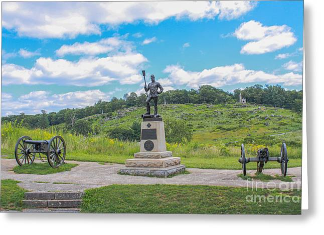 Devils Den Greeting Cards - 4th New York Independent Battery Gettysburg Greeting Card by Randy Steele