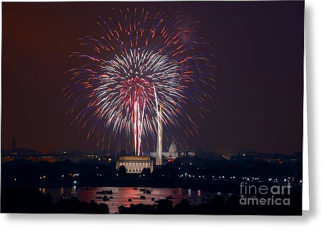 4TH OF JULY, 2008 Greeting Card by Granger