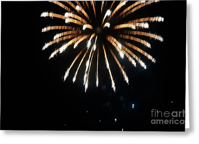 4th July Paintings Greeting Cards - 4th of July Fireworks Greeting Card by Adam Asar