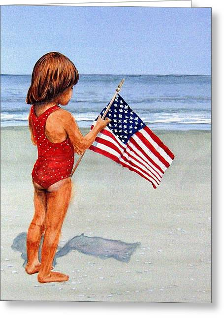 4th Of July Greeting Card by Haldy Gifford