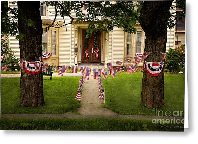 Mystic Art Greeting Cards - 4th of July Home Greeting Card by Craig J Satterlee