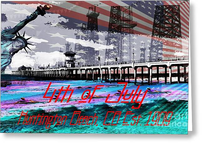 4th July Digital Greeting Cards - 4th of July Greeting Card by RJ Aguilar