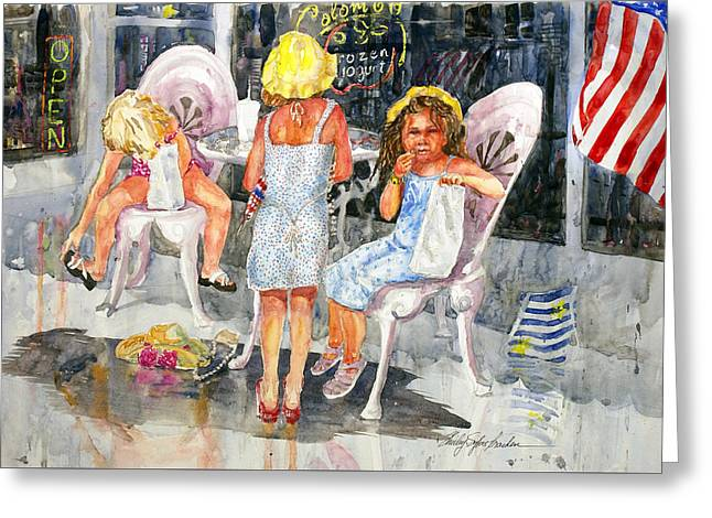4th July Paintings Greeting Cards - 4th of July Greeting Card by Shirley Sykes Bracken
