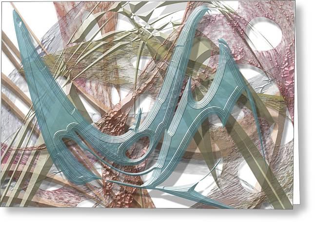 Abstract Digital Digital Art Greeting Cards - 4th of July Greeting Card by Warren Lynn