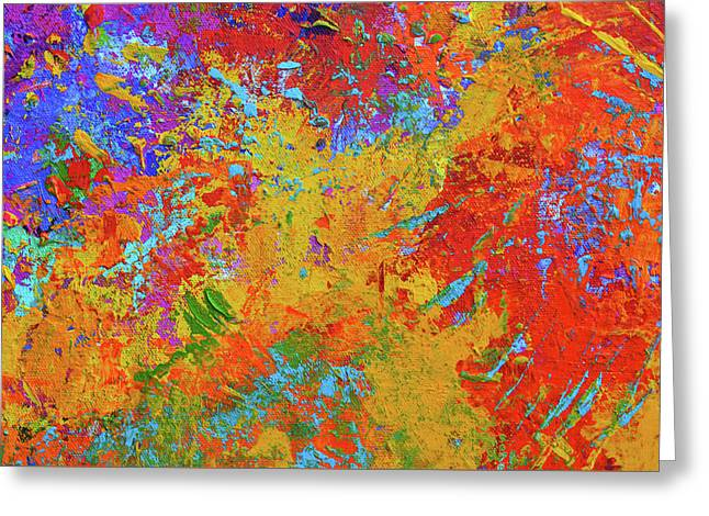 Abstract Painting Modern Art Contemporary Design Greeting Card by Patricia Awapara