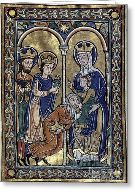Adoration Of Magi Greeting Card by Granger