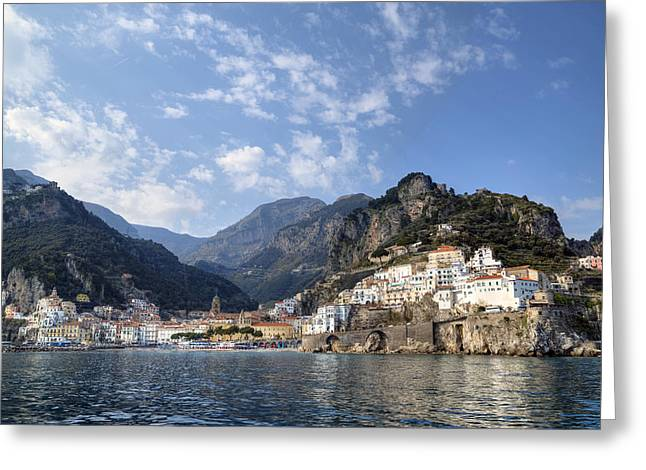 Med Greeting Cards - Amalfi - Amalfi Coast Greeting Card by Joana Kruse