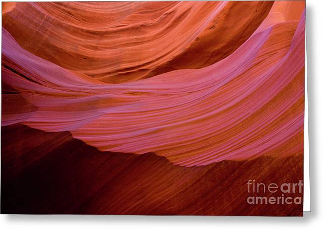 Rock Texture Greeting Cards - Antelope Canyon Greeting Card by Sabino Parente