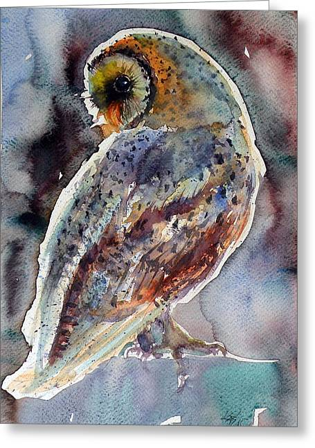 Barn Owl Greeting Card by Kovacs Anna Brigitta
