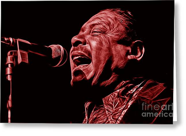Rock N Roll Greeting Cards - Big Joe Turner Collection Greeting Card by Marvin Blaine