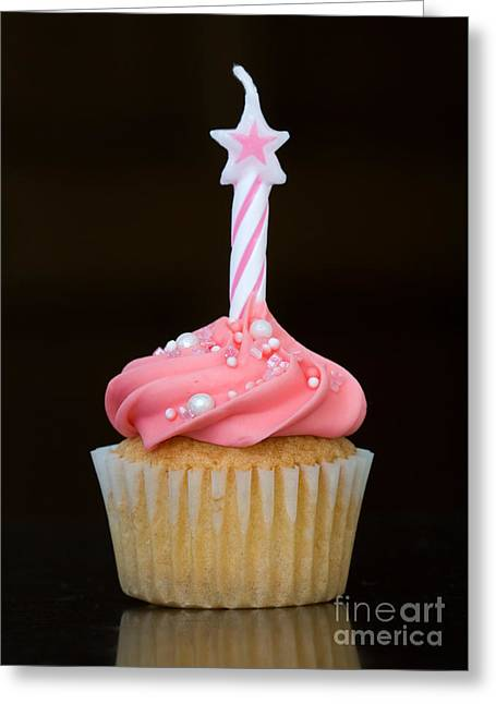 Cup Cakes Greeting Cards - Birthday cupcake Greeting Card by Ruth Black