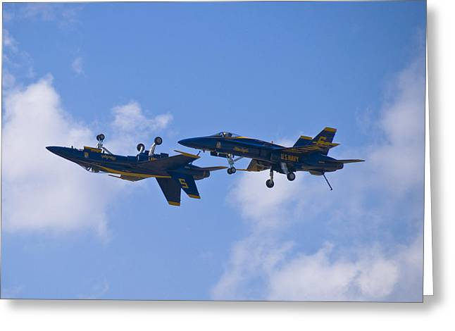 Angel Blues Greeting Cards - Blue Angels Greeting Card by Eric Miller