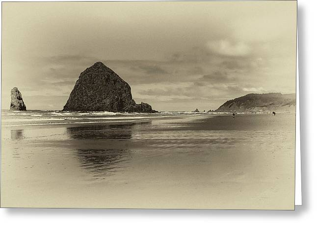 Monolith Greeting Cards - Cannon Beach Greeting Card by David Patterson