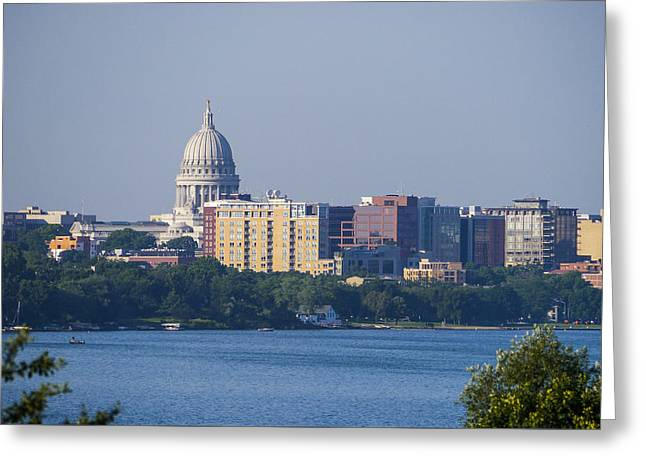 Lake Mendota Greeting Cards - Capitol - Madison - Wisconsin Greeting Card by Steven Ralser