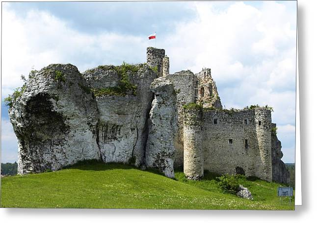Summer Storm Greeting Cards - Castle Greeting Card by FL collection