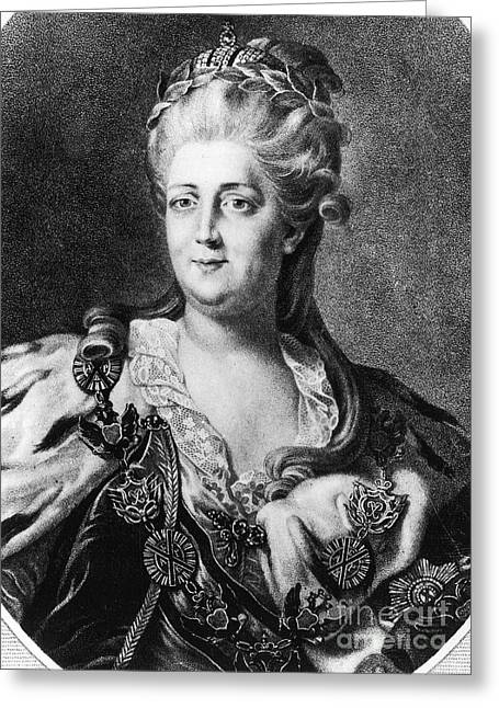 18th Century Greeting Cards - Catherine Ii (1729-1796) Greeting Card by Granger